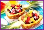Три салата с фруктами