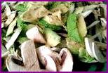 Постные салаты с грибами