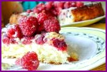 Тертый пирог со свежей малиной и кардамоном